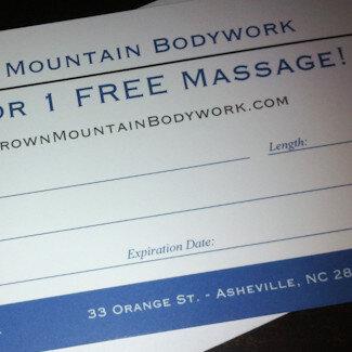 massage gift certificate