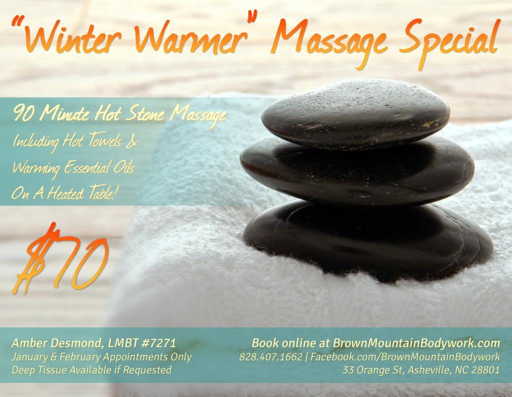 Winter Warmer Hot Stone Massage