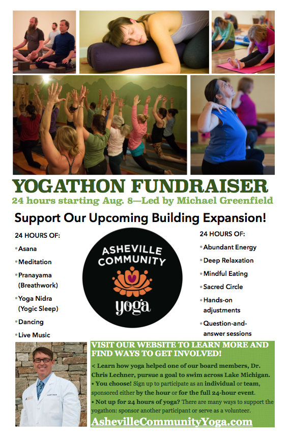 Asheville Community Yogathon Flyer