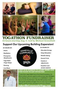 Asheville Community Yogathon Flyer