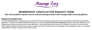 Massage Envy cancellation